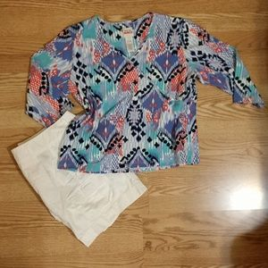 Ruby Rd. Favorites Multi-colored Top
